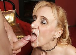 Horny mature slut gets fucked by her toyboy
