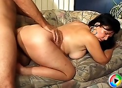 Tight-looking granny rides mature cock and gets fucked doggystyle like she\'s 20 again