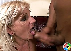 Old slut gets fucked by a younger guy!