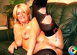 Hot GILF sluts around and takes cock!