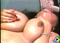 Busty moms with wet pussies play with tits