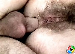 Hairy twat granny fucked in the ass