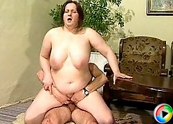 Huge housewife fucked by her skinny husband